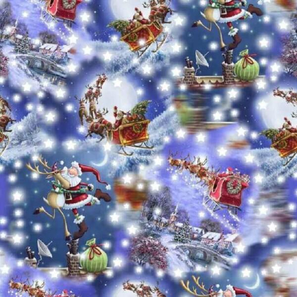 Jõuluvanad saanil trikotaaž